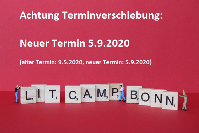 Verschiebung des Literaturcamps Bonn
